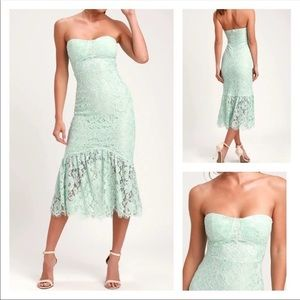 Lulu's NWT Divine Night Lace Strapless Dress Sz XS